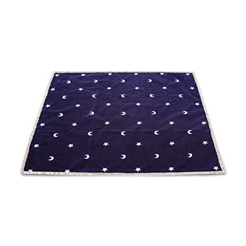 9788883956904: Tapis Bleu 80 X 80 Cm Lunes et Etoiles