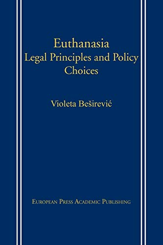 9788883980374: Euthanasia: Legal Principles and Policy Choices