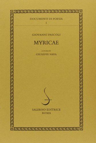 9788884020710: Myricae