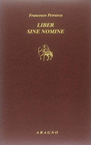 9788884194565: Libro senza titolo-Liber sine nomine (Biblioteca Aragno)