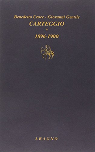 9788884196811: Carteggio vol. 1 - 1896-1900