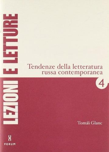 Tendenze della letteratura russa contemporanea. Breve rassegna: Tomás Glanc