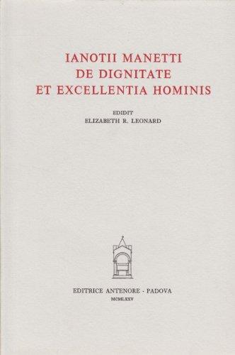 9788884551436: De dignitate et excellentia hominis (Thesaurus mundi)
