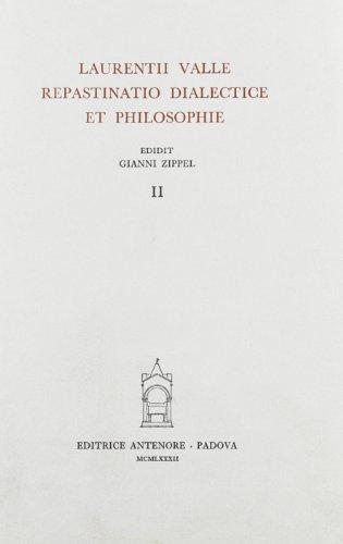 9788884551528: Repastinatio dialectice et philosophie: 2
