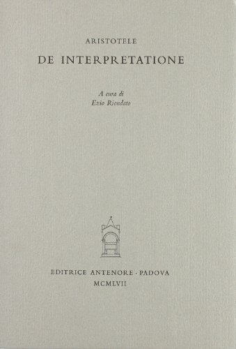 De interpretatione.: Aristotele.