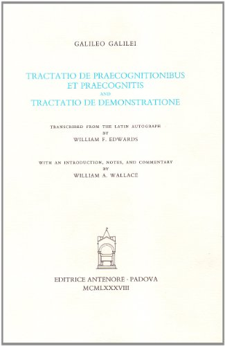 Tractatio de praecognitionibus et praecognitis and Tractatio de demonstratione (9788884554031) by [???]