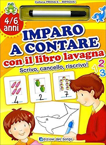 9788884573513: Imparo a contare con il libro lavagna. Ediz. illustrata