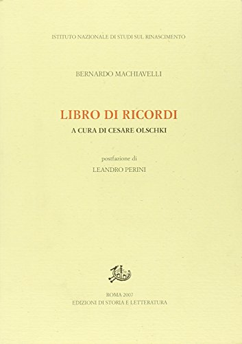 Libro di ricordi.: Machiavelli, Bernardo