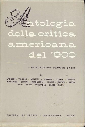 Antologia della critica americana del '900. Vol.III.