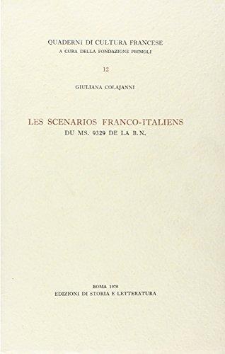 Les scenarios Franco-Italiens du MS.9329 de la