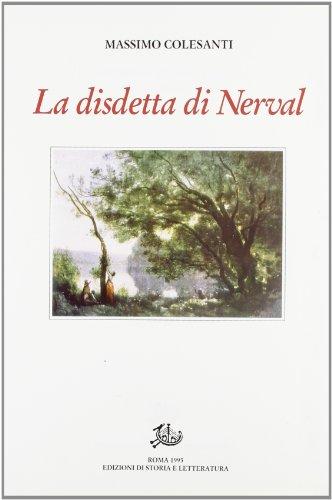 9788884987839: La disdetta di Nerval, con altri saggi e studi