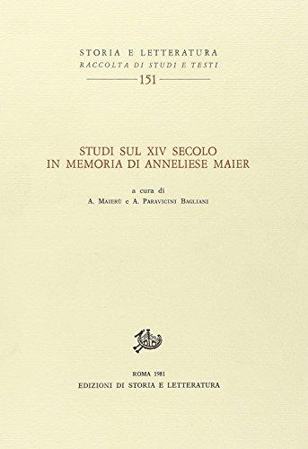 9788884988959: Studi sul XIV secolo in memoria di Anneliese Maier