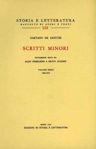 9788884989093: Scritti minori. Vol.III: 1906-1919