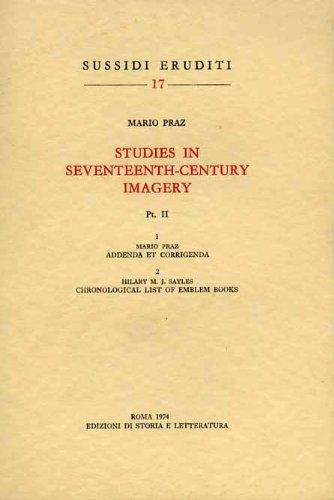 9788884989314: Studies in seventeenth-century imagery