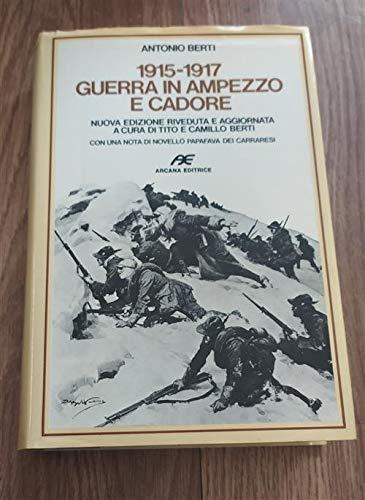 9788885008441: 1915-1917, guerra in Ampezzo e Cadore (Contributi per la storia) (Italian Edition)