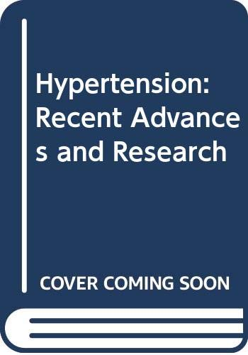 9788885037380: Hypertension: Recent Advances and Research