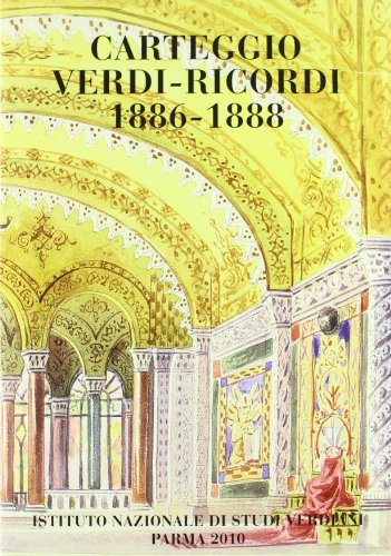 9788885065345: Carteggio Verdi-Ricordi 1886-88 vol. 3