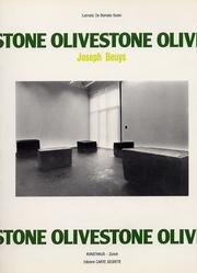 9788885203563: Olivestone. Joseph Beuys. [German Ed.].