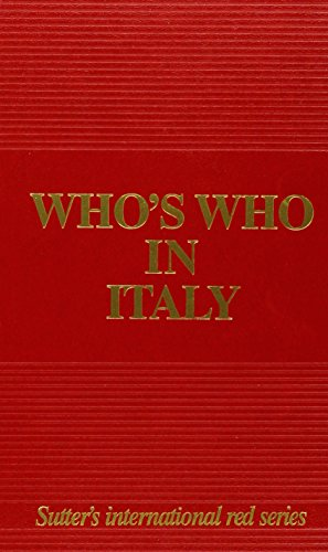 9788885246713: Who's Who in Italy 2013