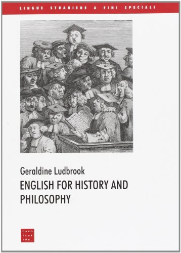 9788885613904: English for history and philosophy
