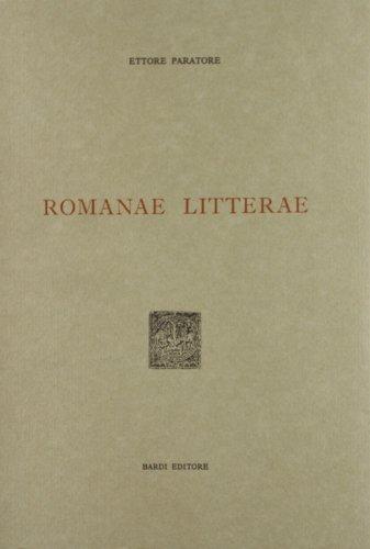9788885699397: Romanae litterae