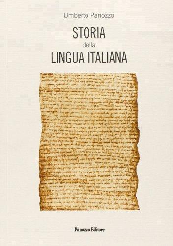 9788886397445: Storia della lingua italiana (Italian Edition)