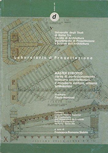 Laboratorio di progettazione. Master europeo. Corso di: Marconi,Paolo (dir.).