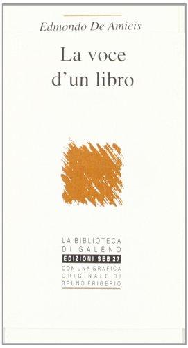 9788886618052: La voce d'un libro