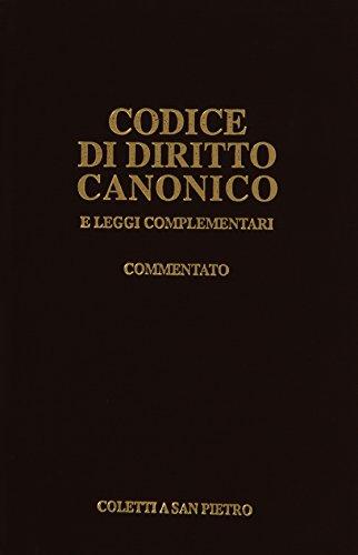 9788887129199: Codice di diritto canonico commentato e leggi complementari
