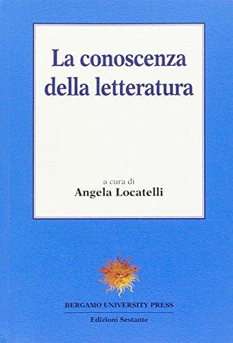 9788887445244: La conoscenza della letteratura (Bergamo University Press)