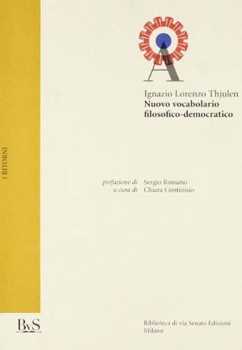 9788887945591: Nuovo vocabolario filosofico-democratico