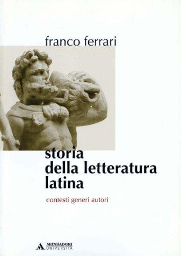 9788888242545: Storia della letteratura latina. Contesti, generi, autori