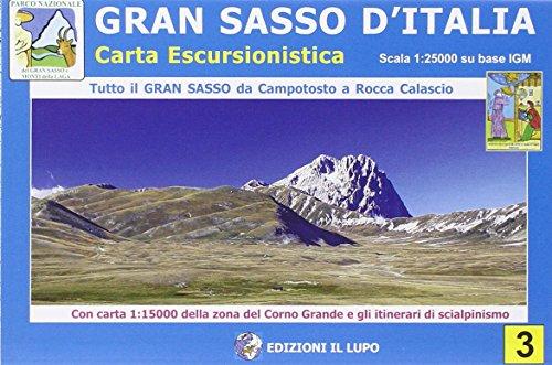 9788888450438: Gran Sasso d'Italia. Carta escursionistica 1:25.000 (Carte escursionistiche)