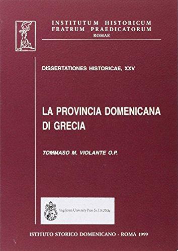 9788888660998: La provincia domenicana di Grecia