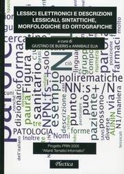 Lessici elettronici e descrizioni lessicali, sintattiche, morfologiche