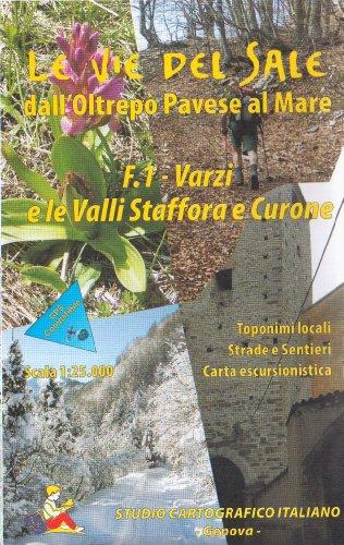 9788888968070: Liguria-Piedmont - Le Vie del Sale f.1 - Varzi e le Valli Staffora e Curone, Map 1:25.000