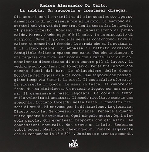 9788889035337: La rabbia-La rage. Ediz. bilingue