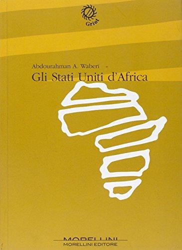 9788889550250: Gli Stati Uniti d'Africa