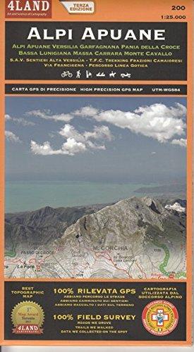 9788889823460: Alpi Apuane. Carta topografica-escursionistica 1:25.000. Ediz. italiana, inglese e tedesca [Lingua inglese]