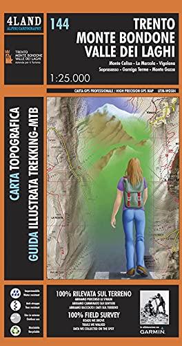 9788889823590: Trento Monte Bondone Valle dei Laghi - High Precision Topographic Map 1:25.000 - WATERPROOF