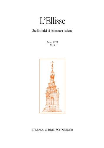 L'Ellisse 9/1, 2014: Studi storici di letteratura: Bretschneider, L'Erma di