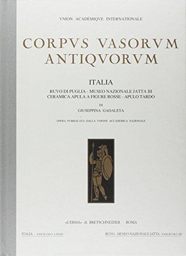 Corpus vasorum antiquorum Italia, 81 : Ruvo: Gadaleta,Giuseppina