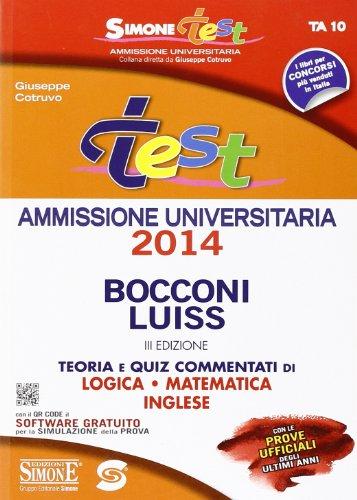9788891401113 Test Ammissione Bocconi Luiss Teoria E Quiz