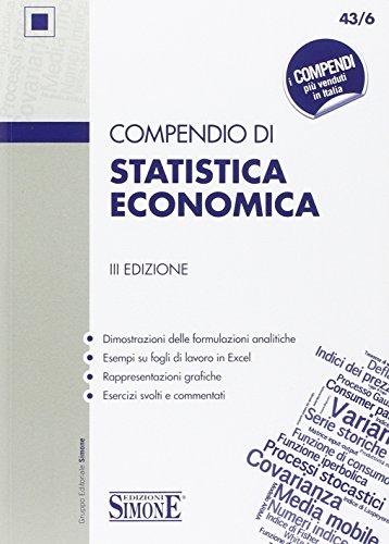 9788891404237: Compendio di statistica economica