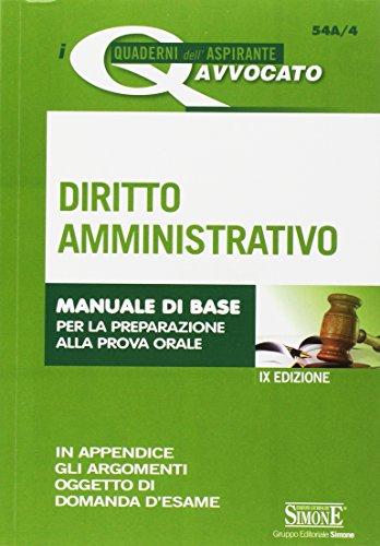 Diritto amministrativo. Manuale di base per la: AA.VV.