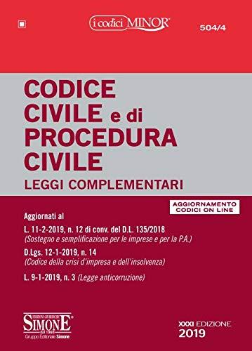 9788891419842: Codice civile e di procedura civile. Leggi complementari. Con aggiornamento online