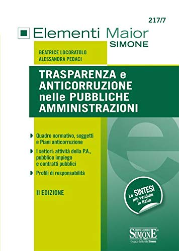 9788891425096: Trasparenza e anticorruzione nelle pubbliche amministrazioni