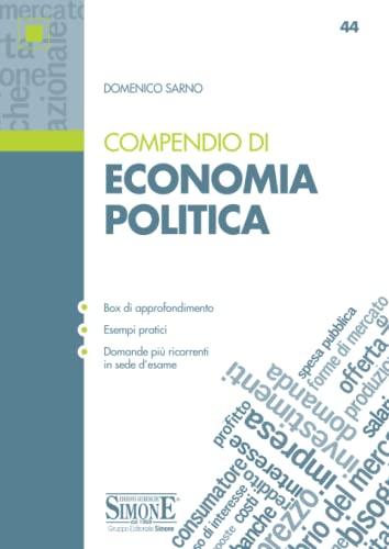 9788891425225: Compendio di economia politica