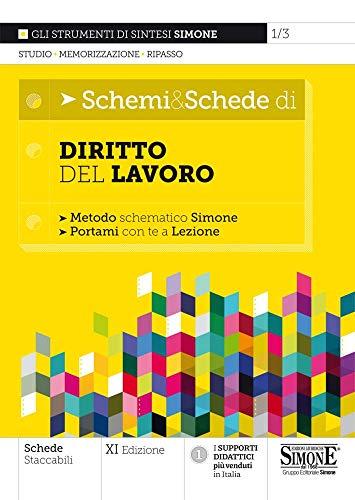 9788891427311: Schemi & schede di diritto del lavoro. Metodo schematico Simone