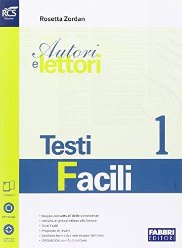 9788891510860: Autori e lettori. Testi facili. Openbook. Per la Scuola media. Con e-book. Con espansione online (Vol. 1)